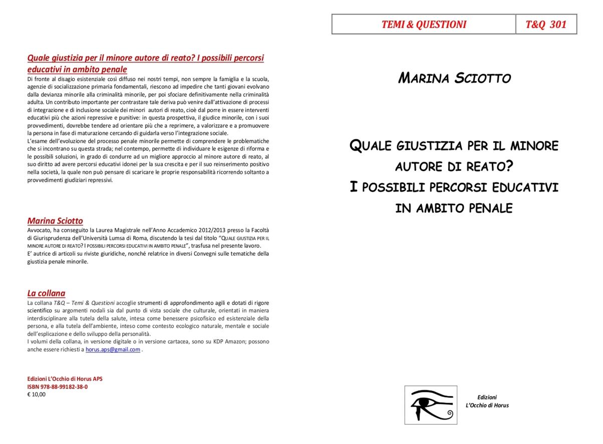 Copertina libro Marina Sciotto