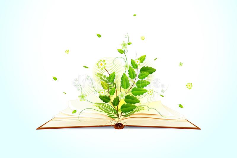Pianta che cresce su un libro aperto a simboleggiare la collana Racconti verdi