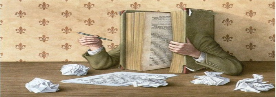 Un grande libro che scrive, simbolo del Concorso Letterario Incrociamo le penne