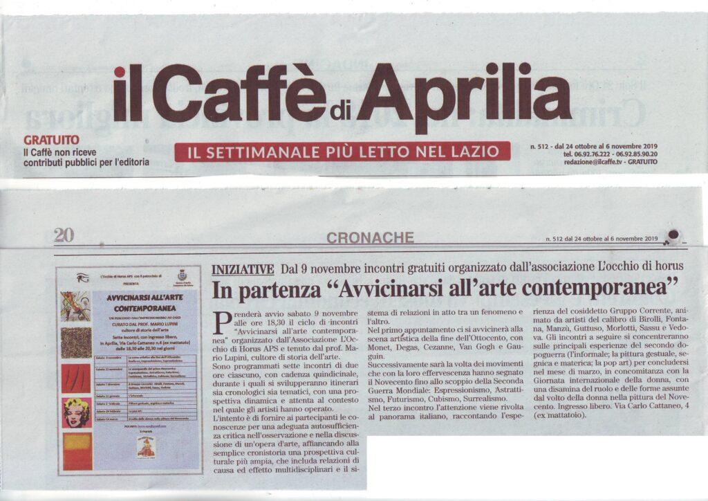 Articolo apparso su Il Caffè di Aprilia