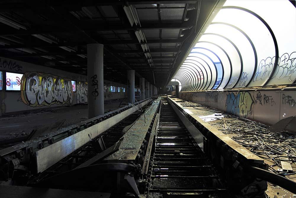 Tunnel cin quel che resta del tapis roulant